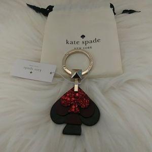 Kate Spade Black Cherry Stacked Spade Keyf…